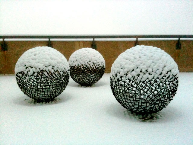 Spheres in the Snow